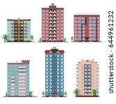 set of different panel... | Shutterstock .eps vector #644961232