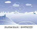 christmas wishes in winter... | Shutterstock .eps vector #64496320
