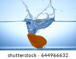 vegetables dropped in water.... | Shutterstock . vector #644966632