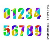 color numbers. | Shutterstock .eps vector #644967448
