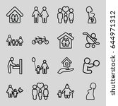 mother icons set. set of 16... | Shutterstock .eps vector #644971312