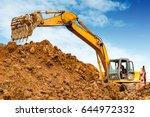 construction site under the... | Shutterstock . vector #644972332