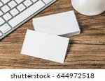 business card on wood | Shutterstock . vector #644972518