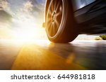 low angle side view of car... | Shutterstock . vector #644981818