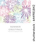 summer greeting card of... | Shutterstock .eps vector #644981842