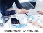 business mockup. office... | Shutterstock . vector #644987206