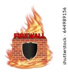 fire wall protection logo with... | Shutterstock .eps vector #644989156