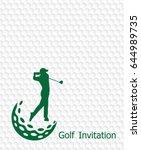 golf tournament invitation... | Shutterstock .eps vector #644989735