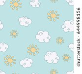 vector seamless pattern with... | Shutterstock .eps vector #644998156
