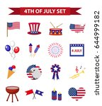 set of patriotic icons... | Shutterstock .eps vector #644999182
