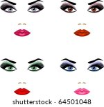 make up for eyes of different... | Shutterstock .eps vector #64501048