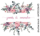 Watercolor Floral Frame  ...