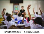 education  elementary school ... | Shutterstock . vector #645020836