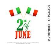 illustration of independence... | Shutterstock .eps vector #645021508