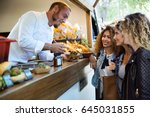 portrait of three beautiful...   Shutterstock . vector #645031855