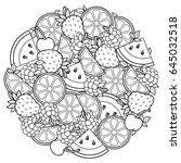 vector coloring book for adult  ... | Shutterstock .eps vector #645032518
