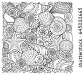 vector coloring book for adult  ...   Shutterstock .eps vector #645032665