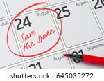 save the date written on a... | Shutterstock . vector #645035272