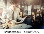 asian smart business man with...   Shutterstock . vector #645040972
