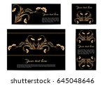 a set of banners of different... | Shutterstock .eps vector #645048646