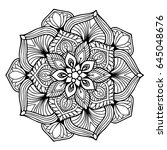 mandalas for coloring book.... | Shutterstock .eps vector #645048676