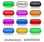 download colored buttons. pairs ... | Shutterstock .eps vector #645050518