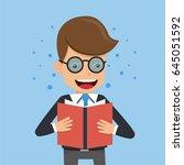 businessman in suit wear... | Shutterstock .eps vector #645051592