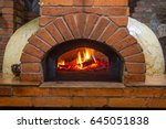 fire and burn coals in stone... | Shutterstock . vector #645051838