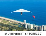 practicing hang gliding and... | Shutterstock . vector #645055132