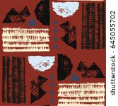 seamless african pattern.... | Shutterstock .eps vector #645055702