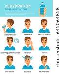 dehydration symptoms vector... | Shutterstock .eps vector #645064858