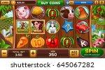 farm slot game. vector... | Shutterstock .eps vector #645067282