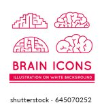 icons of brains in different... | Shutterstock .eps vector #645070252