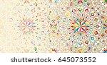 morocco disintegration template.... | Shutterstock .eps vector #645073552