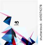 3d triangles geometric vector... | Shutterstock .eps vector #645074278