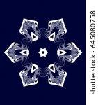 ornament on blue background.... | Shutterstock . vector #645080758