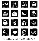 wedding vector icons for user... | Shutterstock .eps vector #645082726