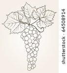 grape outline.raster | Shutterstock . vector #64508914