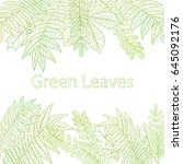 green leaves background | Shutterstock .eps vector #645092176