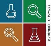 research icons set. set of 4... | Shutterstock .eps vector #645094786