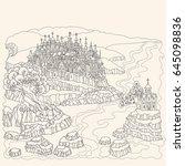 vector cartoon fairy tale... | Shutterstock .eps vector #645098836