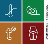 measuring icons set. set of 4... | Shutterstock .eps vector #645099802