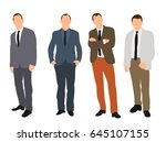 business man collection | Shutterstock . vector #645107155
