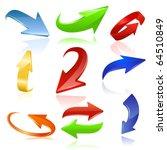 arrow icon set. vector   Shutterstock .eps vector #64510849