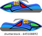 snowmobile  snow machine ... | Shutterstock .eps vector #645108892