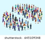 isometric flat 3d isolated... | Shutterstock .eps vector #645109348