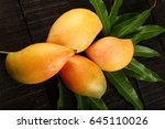 Top View  Juicy Mangoes With...