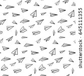 seamless pattern with vector... | Shutterstock .eps vector #645111355