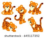Vector Cute Tigers  Tiger Cub ...
