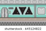 seamless horizontal background... | Shutterstock .eps vector #645124822